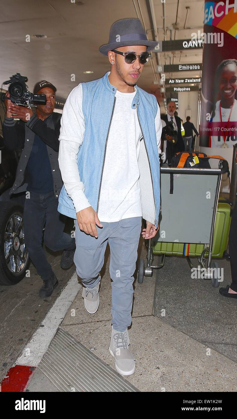 low priced 7bd9b dfd95 Lewis Hamilton, wearing a pair of Kanye West x Adidas Yeezy ...