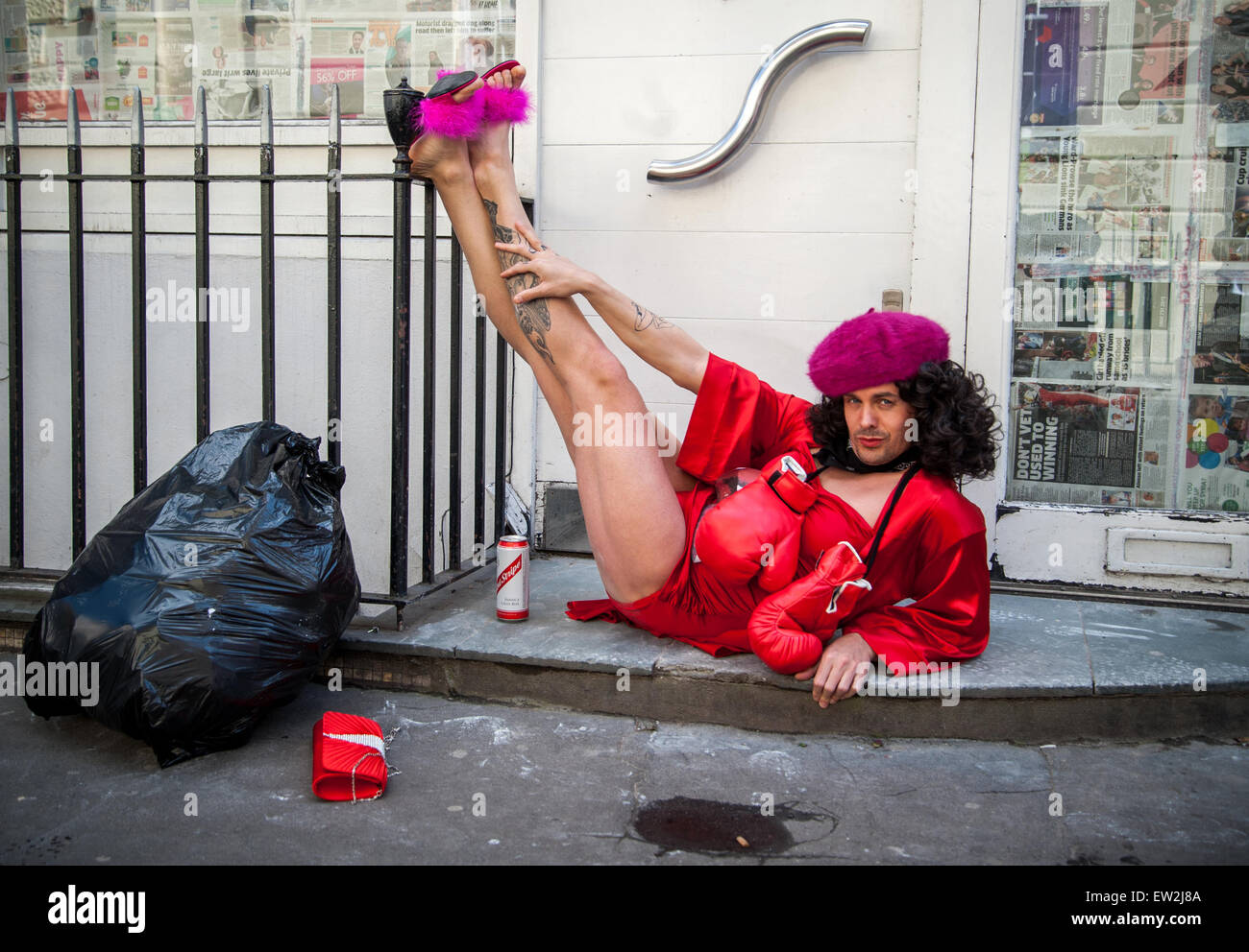 Adam Clifford (AKA Jimmy Kunt), the Class War Candidate for the City of London and Westminster in the upcoming General - Stock Image