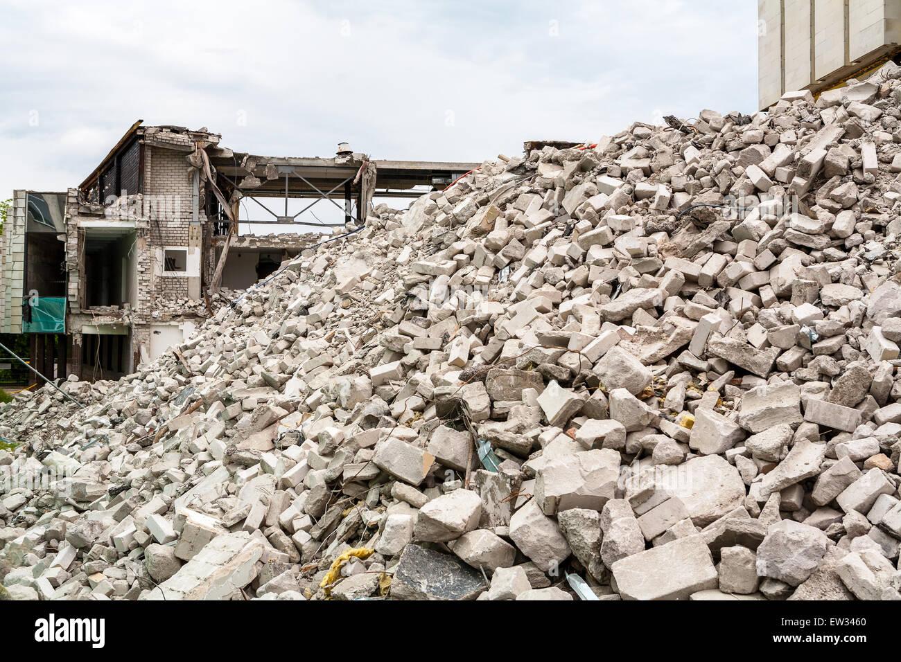 Demolished house - Stock Image