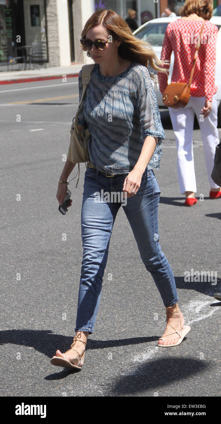 Weird Science actress Vanessa Angel goes shopping in Beverly Hills  Featuring: Vanessa Angel Where: Los Angeles, Stock Photo