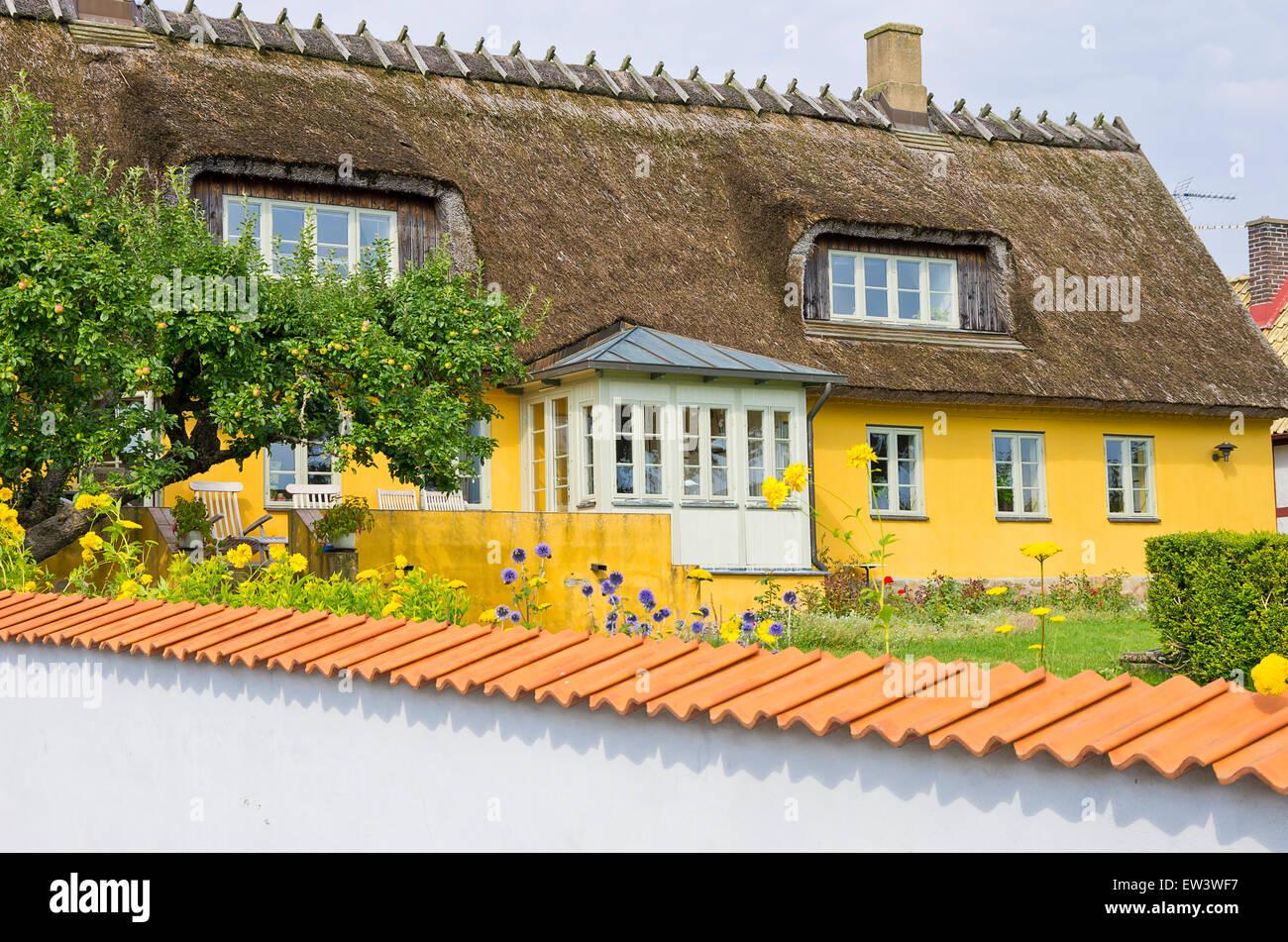 Typical Swedish architecture, Viken, Höganäs kommun, Sweden. - Stock Image
