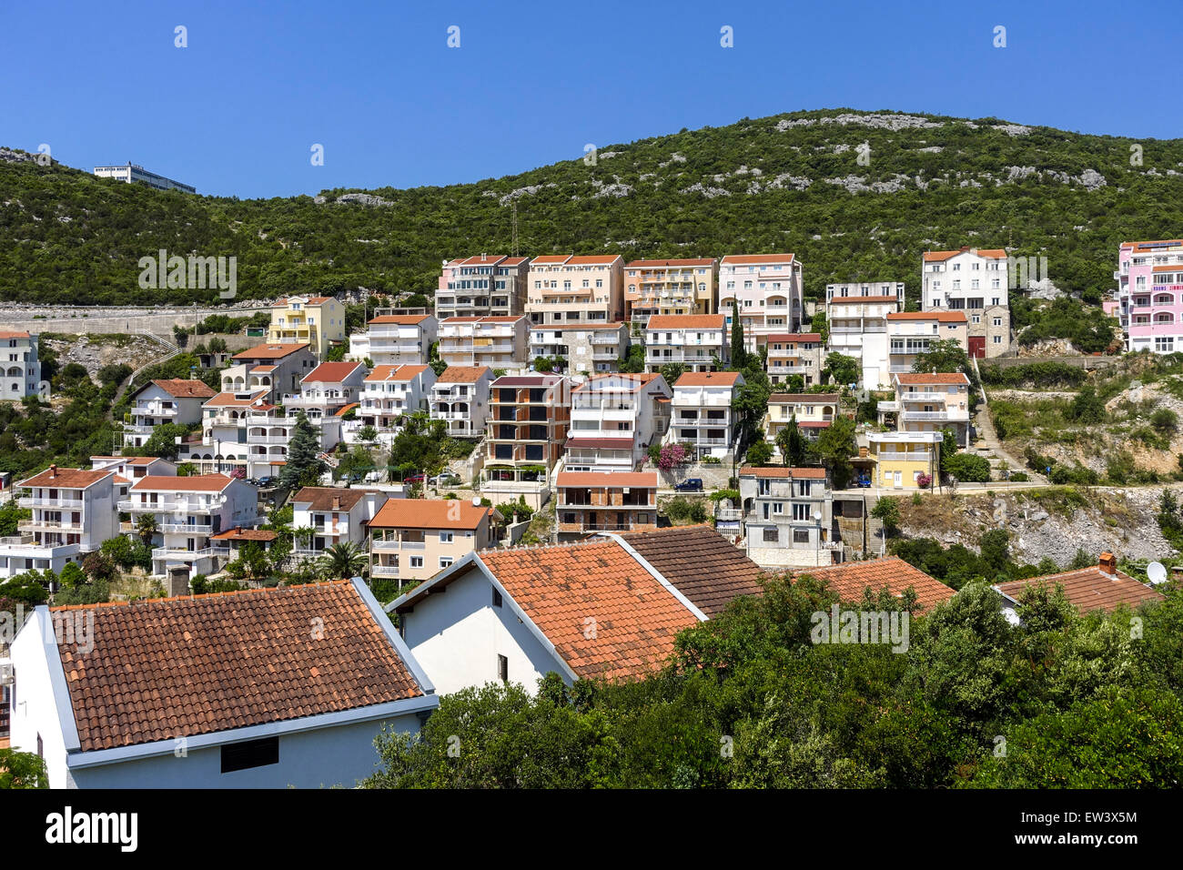 Only sea access of the country, Neum, Bosnia-Herzegovina - Stock Image