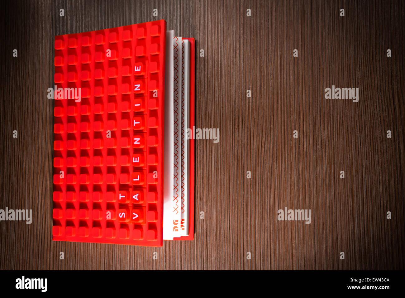 Valentine book - Stock Image