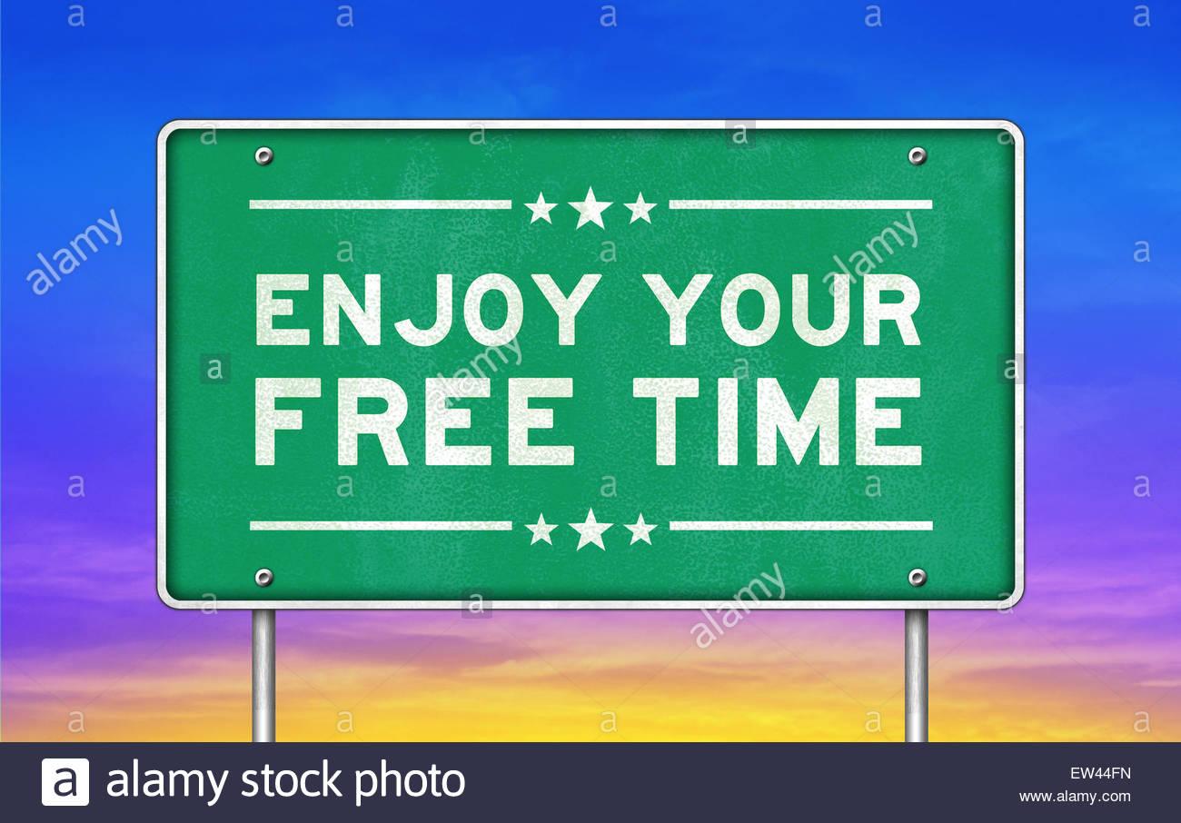 enjoy your free time - Stock Image