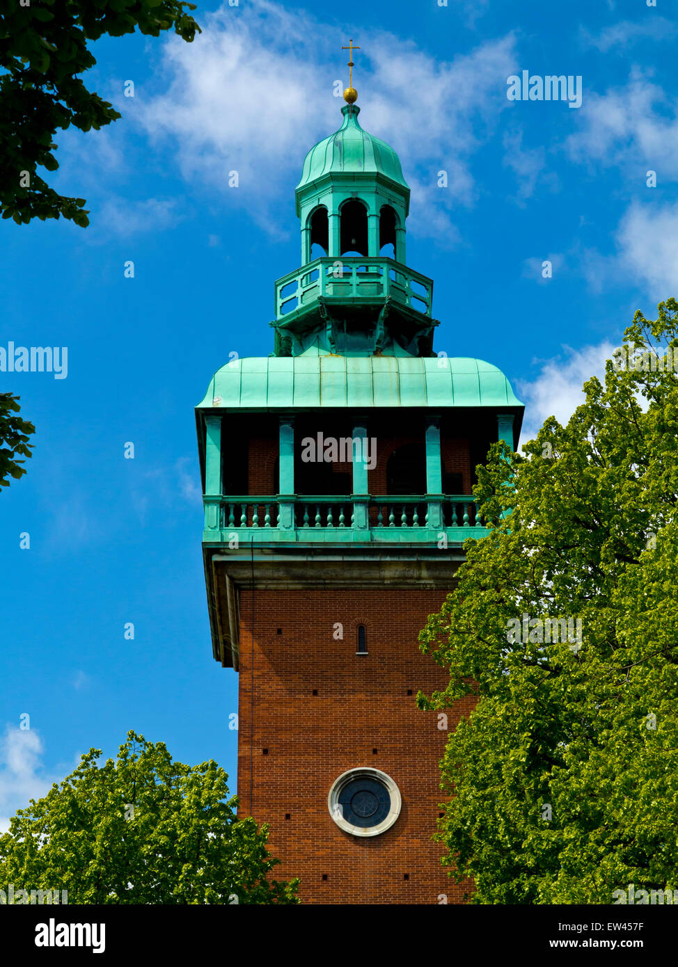 The Carillon Tower in Queen's Park Loughborough Leicestershire England UK built 1923 in memory of men who died - Stock Image
