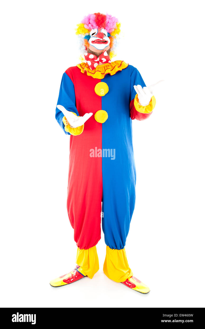 Studio shot of a Crazy Clown - Stock Image