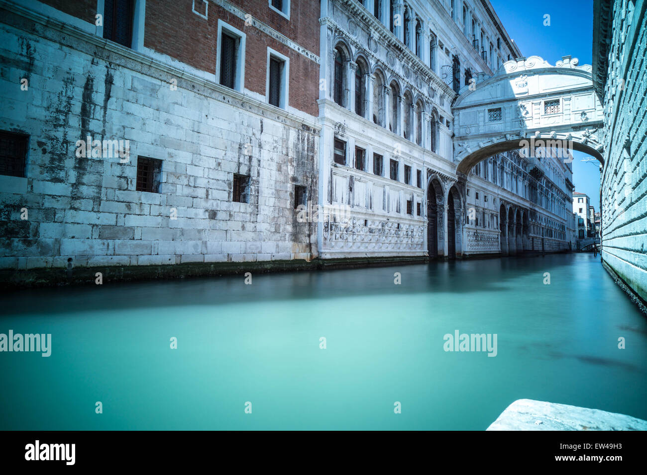 Bridge of sighs, Venice. - Stock Image