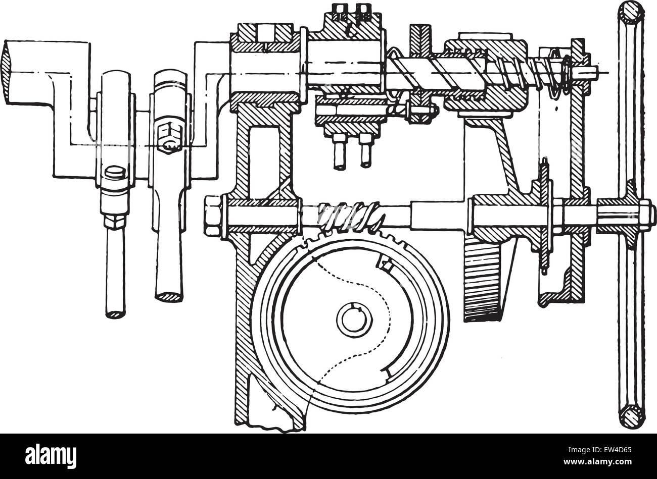 servo stock photos servo stock images alamy Servo System farcot servo winch vintage engraved illustration industrial encyclopedia e o lami