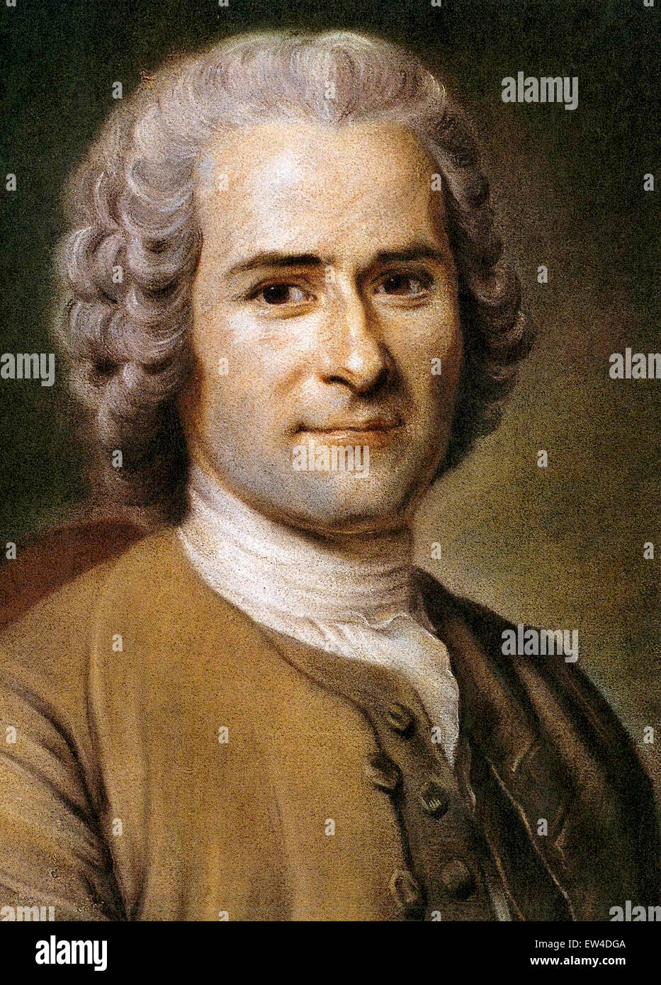 Jean-Jacques Rousseau, Genevan philosopher, writer, and composer of the 18th century. - Stock Image