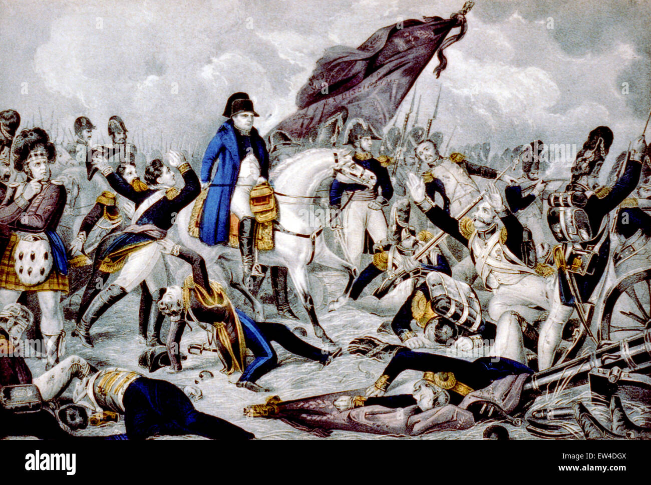 Battle of Waterloo - Stock Image