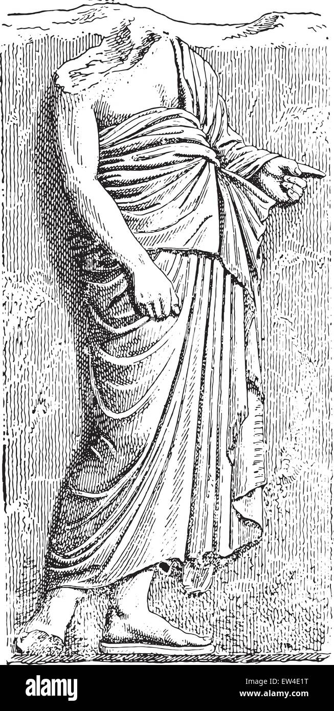 The Pallium, vintage engraved illustration. - Stock Image