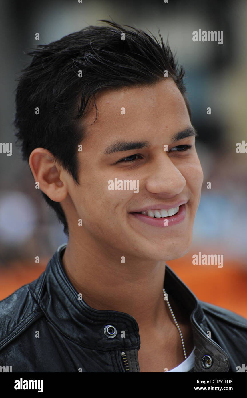LOS ANGELES, CA - JUNE 12, 2011: Bronson Pelletier at the Los Angeles premiere of 'Mr. Popper's Penguins' - Stock Image