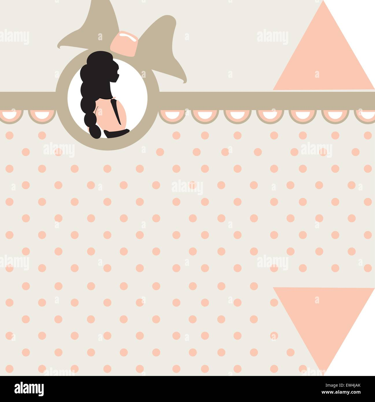 baby girl arrival card vector illustration stock vector art