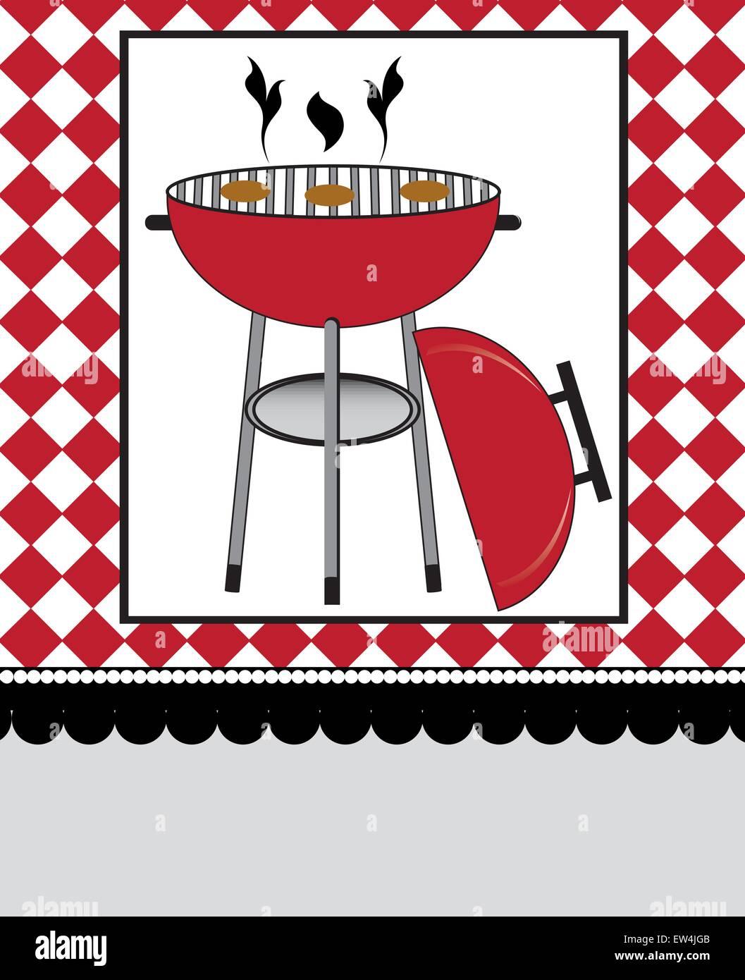 Vintage Barbecue Party Invitation Card Stock Photos & Vintage ...