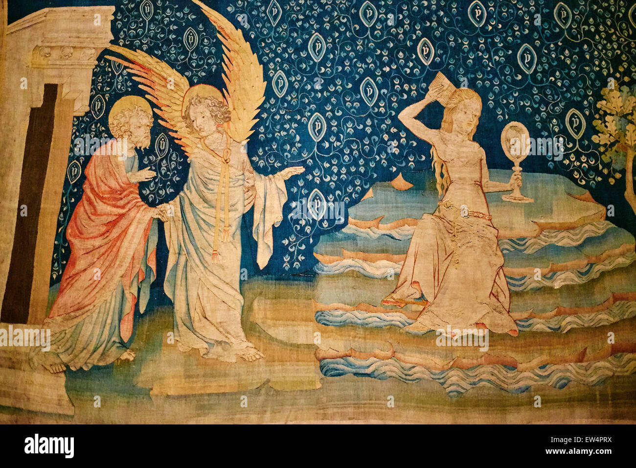 France, Maine Et Loire, Angers, Apocalypse Of Angers Tapestries On Display