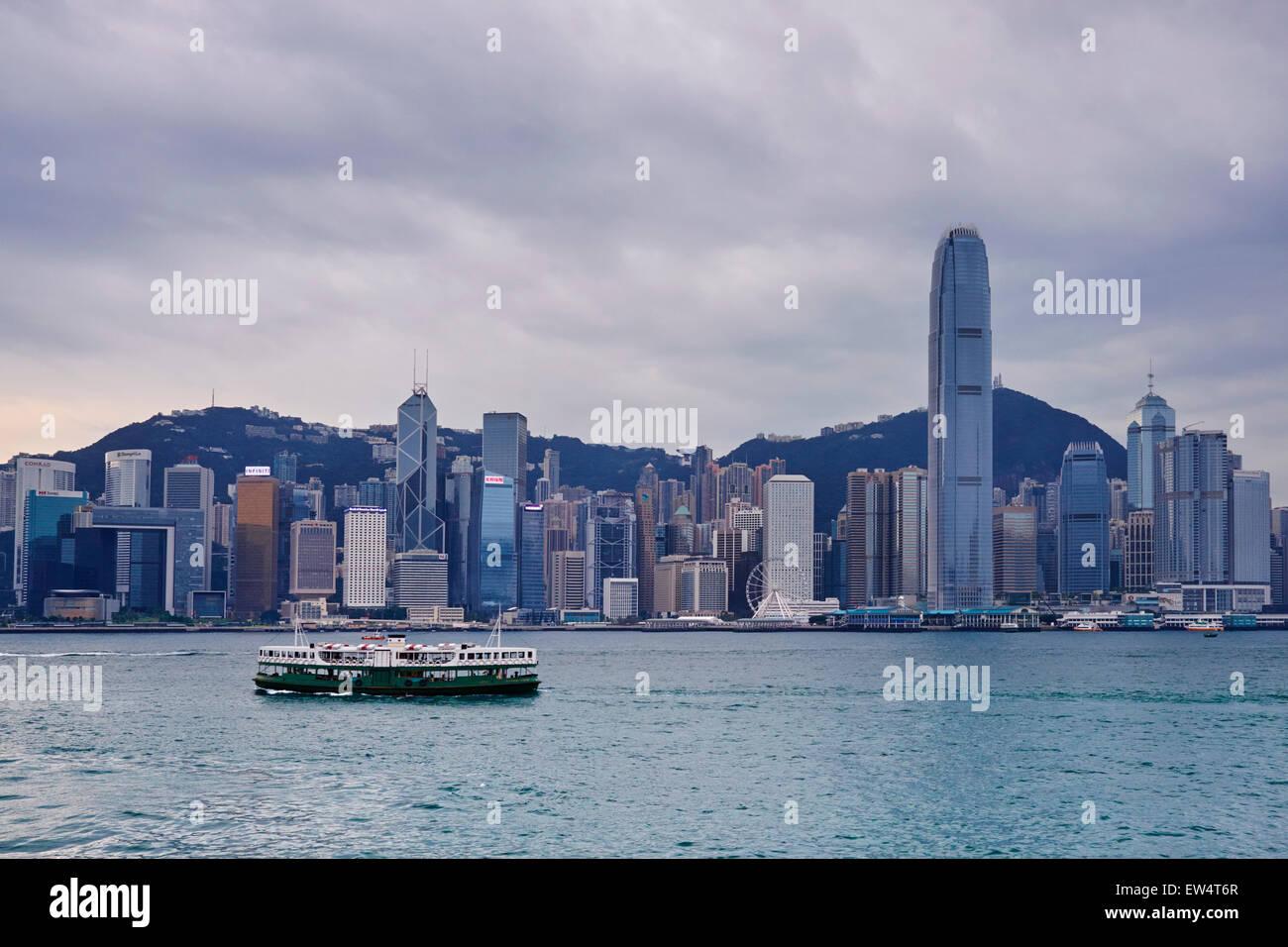 China, Hong Kong, Central from Kowloon - Stock Image