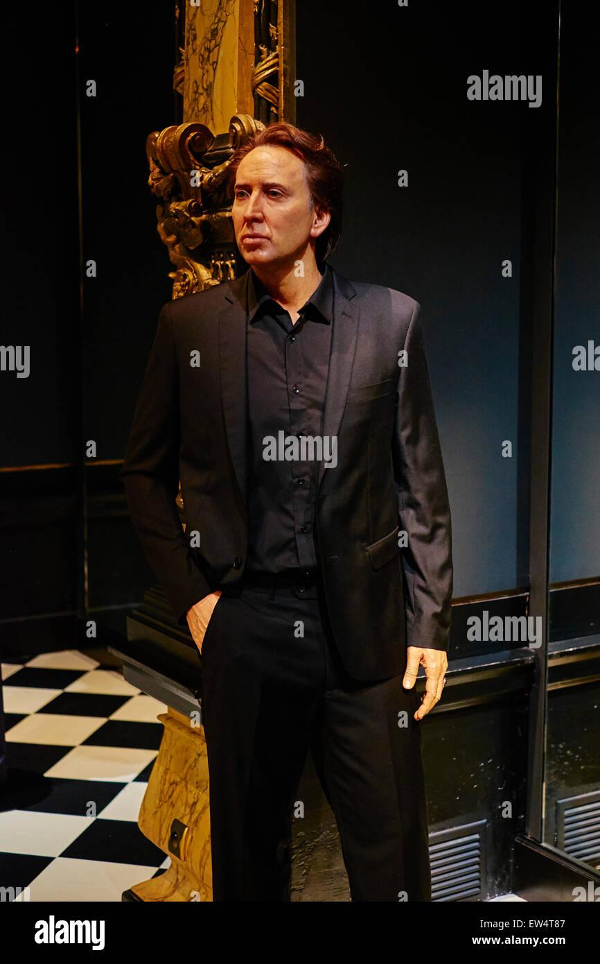 France, Paris, Grevin museum, Nicolas Cage - Stock Image