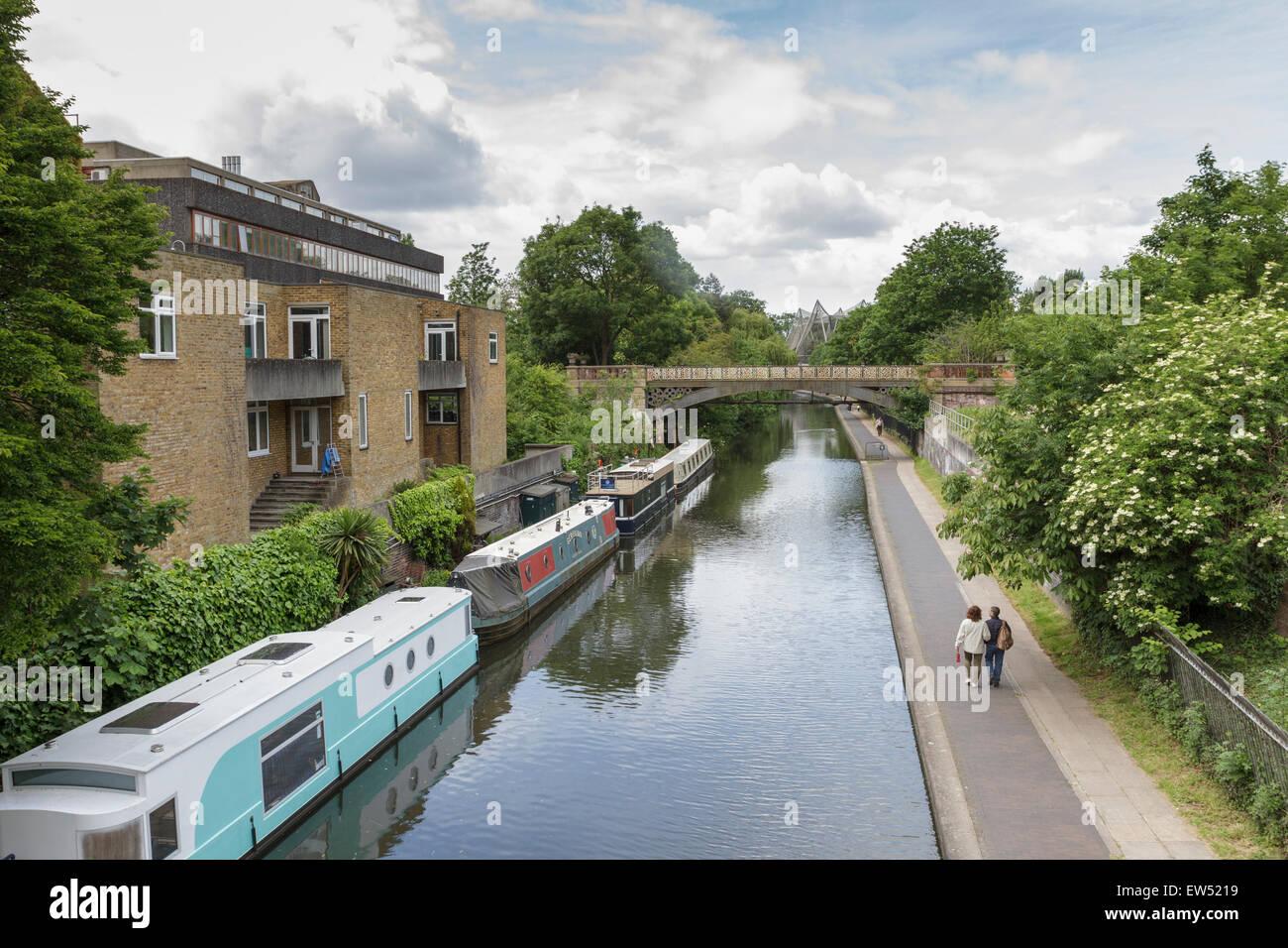 Regents Canal, London, England, UK Stock Photo
