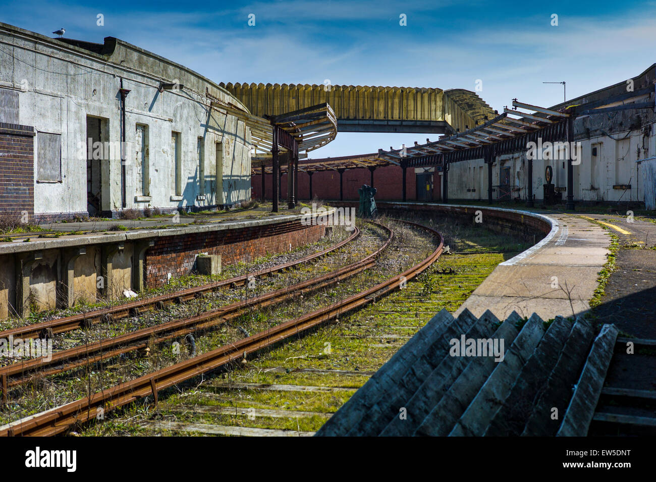 Disused Railway Station at Folkestone Kent - Stock Image