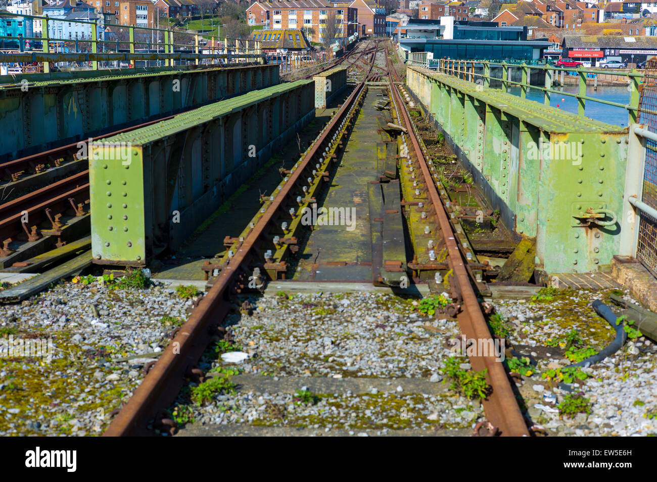Disused Railway Line at Folkestone Kent - Stock Image