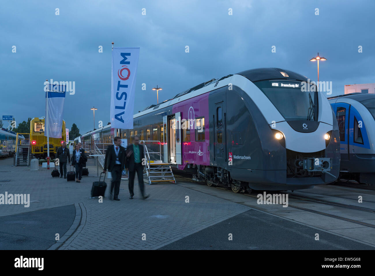Berlin, Germany, Electrical Multiple Alstom - Stock Image