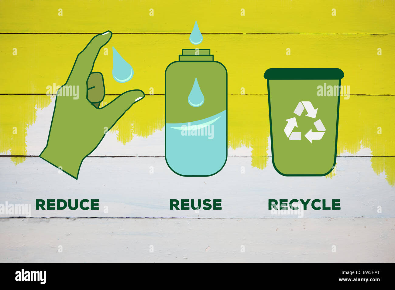 Composite image of reduce reuse recycle - Stock Image