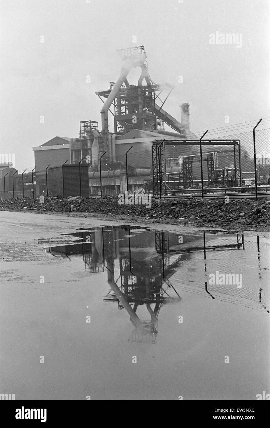 1980 Steel Strike, Shutdown, British Steel Corporation, North Yorkshire, Thursday 3rd January 1980. Stock Photo