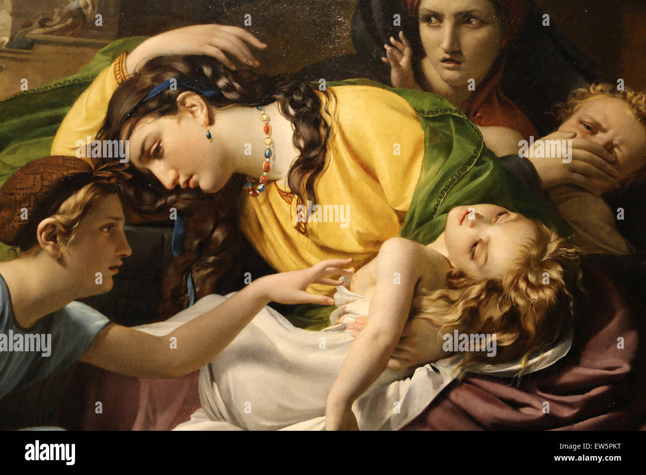 Francois Joseph Navez (1787-1869). The Massacre of the Innocents, 1824. Oil on canvas. Metropolitan Museum of Art. Stock Photo