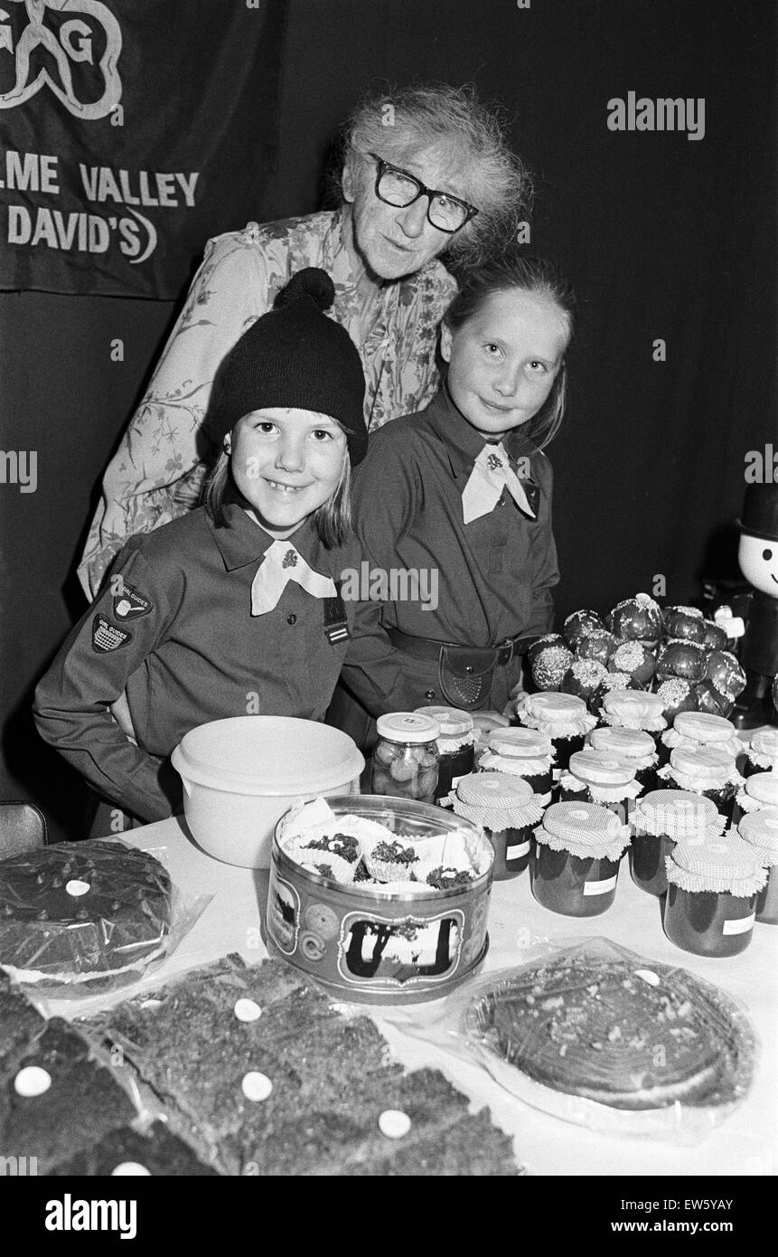 A sale for all ages. There was something for young and old alike at an autumn fair at St David's church, Holmbridge. - Stock Image