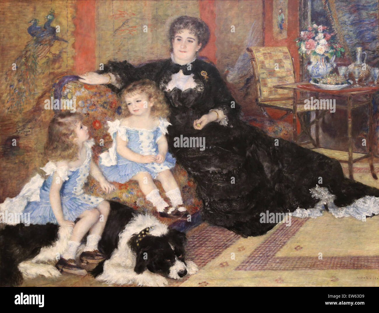Auguste Renoir (1841-1919). French painter. Madamme Georges Charpentier and her children, 1878. Oil on canvas. Metropolitan - Stock Image