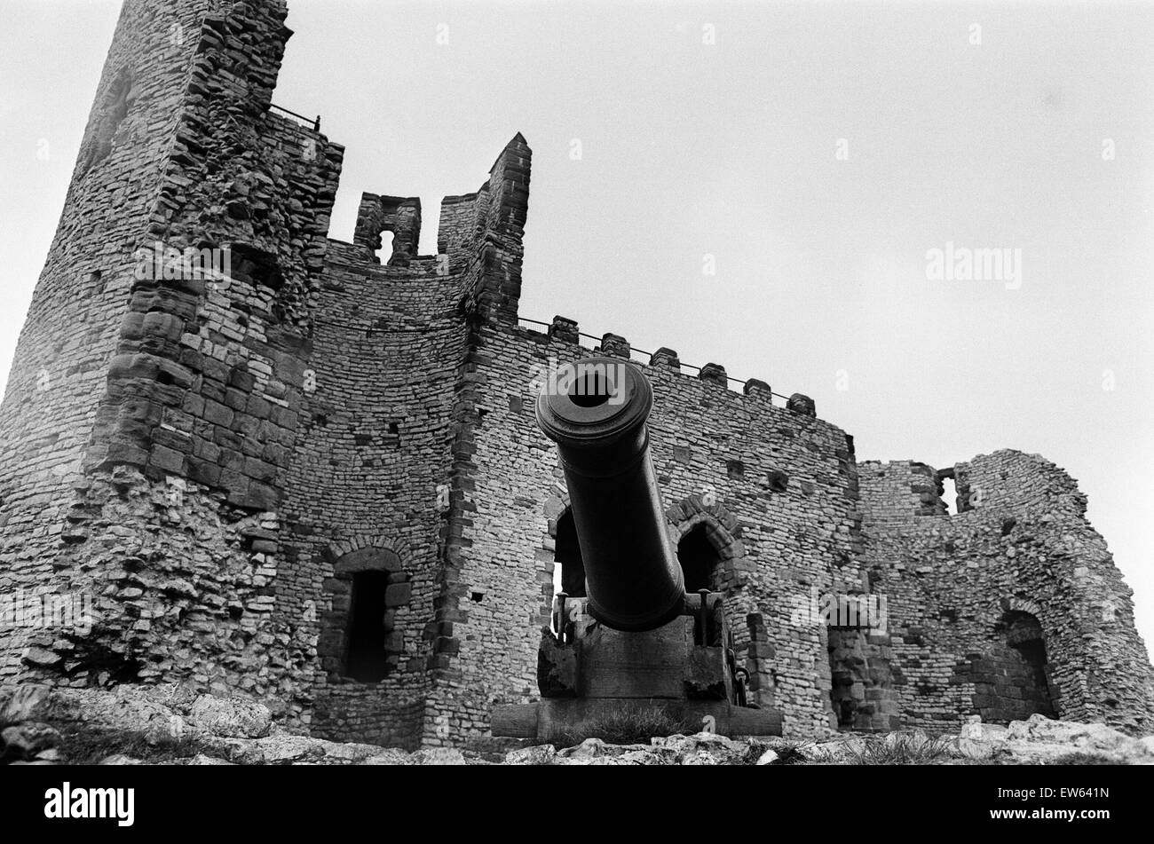 Dudley Castle, a ruined fortification in the town of Dudley, West Midlands, England. 25th May 1968. - Stock Image