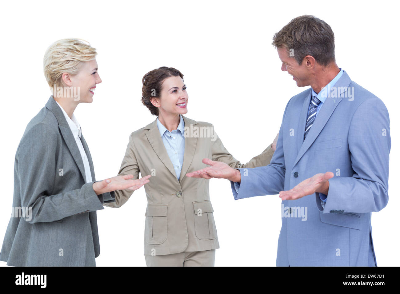 Business people being gentle with themselves - Stock Image