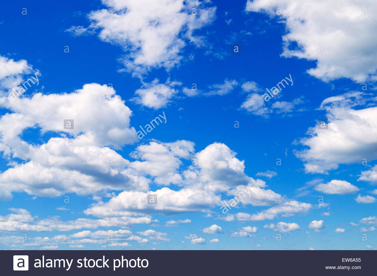 Blue sky with clouds for background. - Stock Image