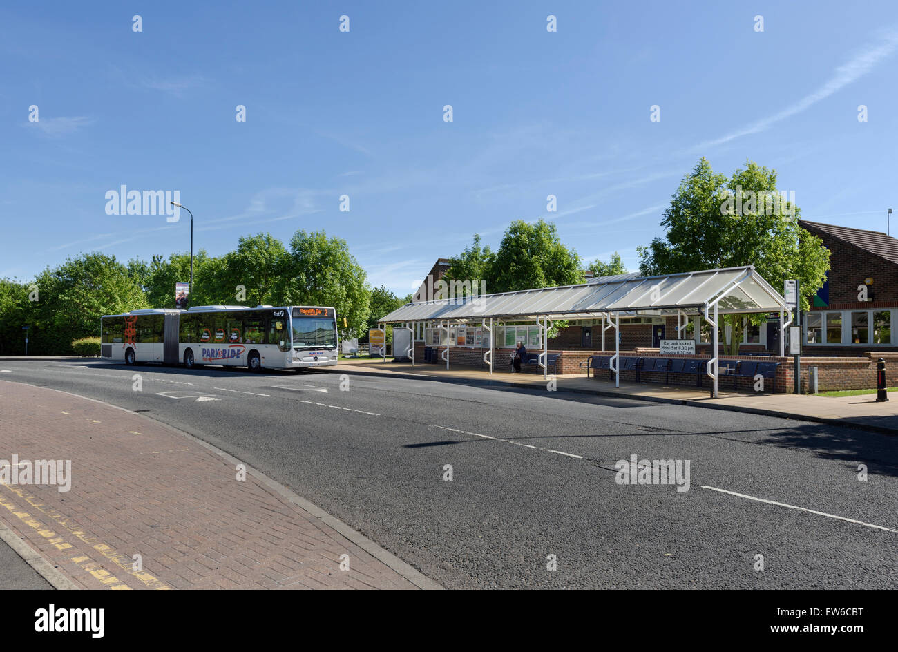 Park and Ride Terminus - Stock Image