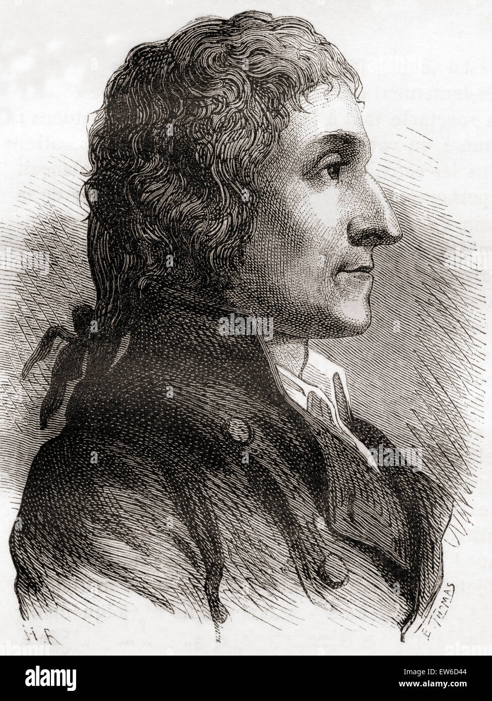 Joseph Louis Proust, 1754 – 1826.   French chemist. - Stock Image