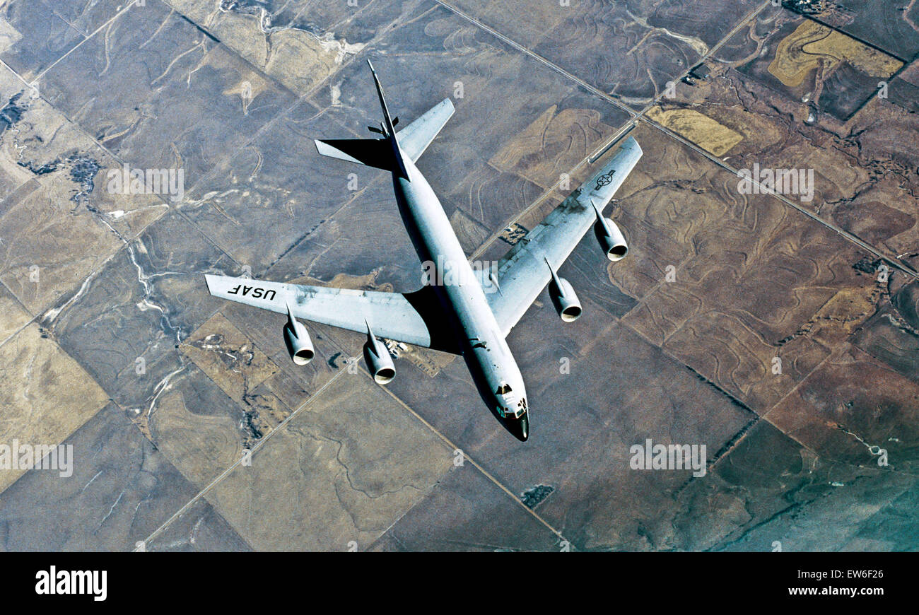 Oct. 10, 2013 - USAF KC-135R.The KC-135 Stratotanker provides the core aerial refueling capability for the United - Stock Image