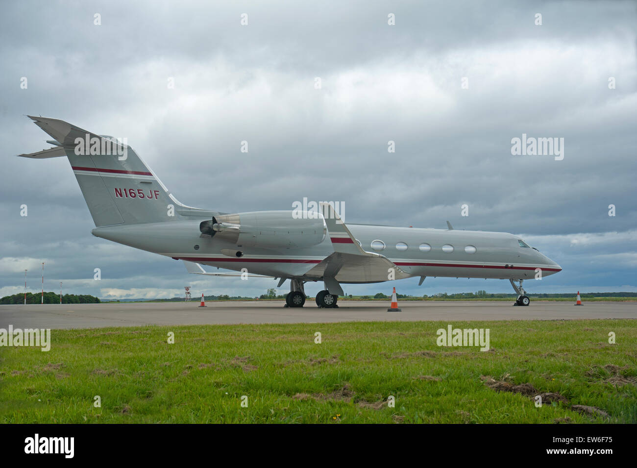 Gulfstream Aerospace G-IV Gulfstream IV-SP  at Inverness Airport.  SCO 9892. - Stock Image