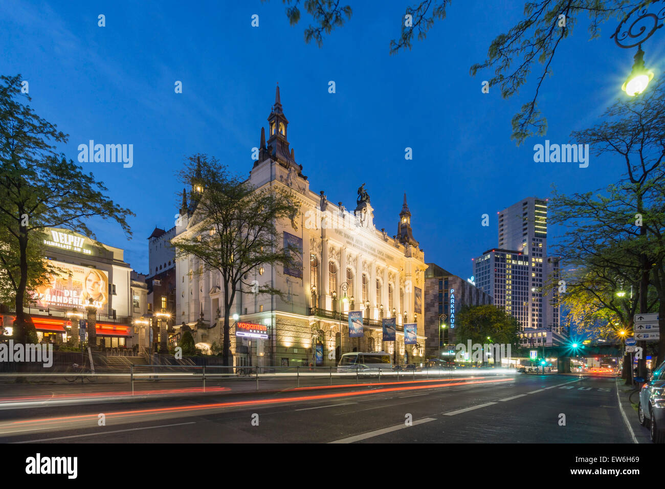 Delphi Cinema, Theater des Westens, Waldorf Astoria Hotel, Kant Street, City West, Berlin Stock Photo
