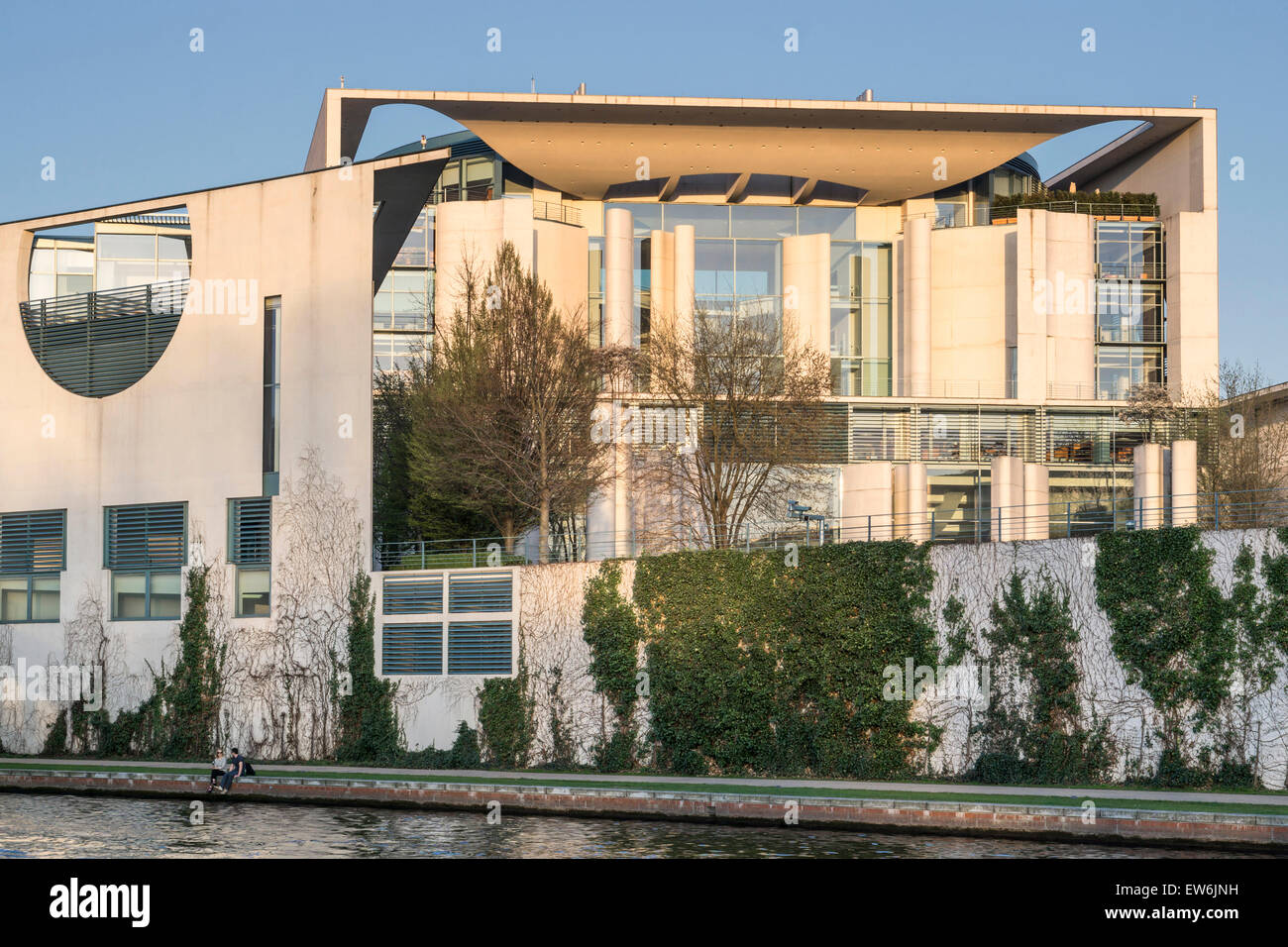 Bundeskanzleramt , River Spree, Berlin, Germany Stock Photo