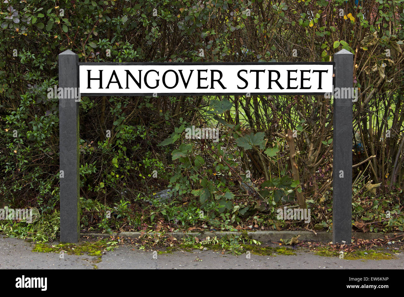 Funny street sign - Stock Image