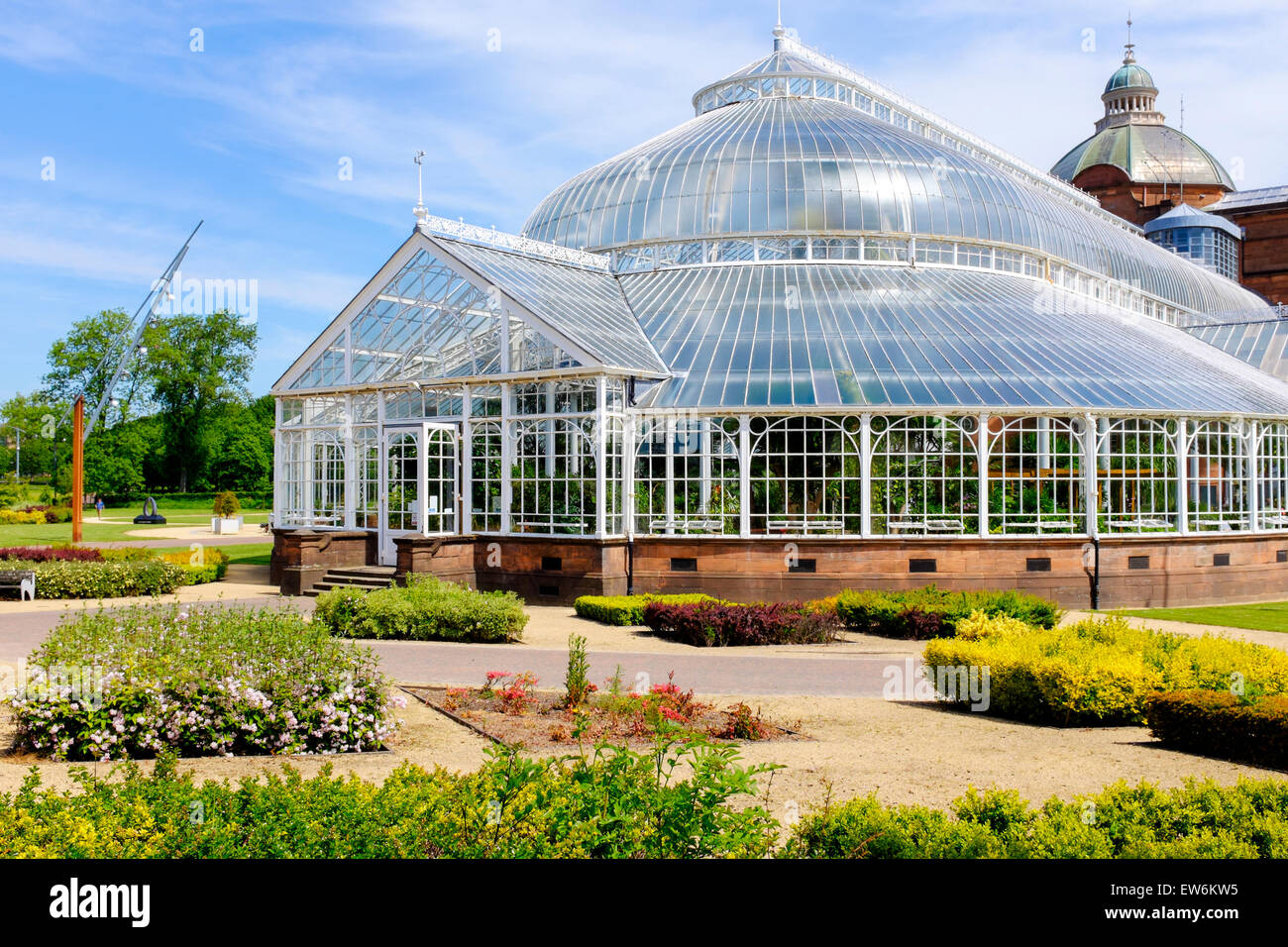 Conservatory At The Botanical Garden Section Of The Peoples Palace Housing  Exotic Plants, Glasgow Green, Glasgow, Scotland.