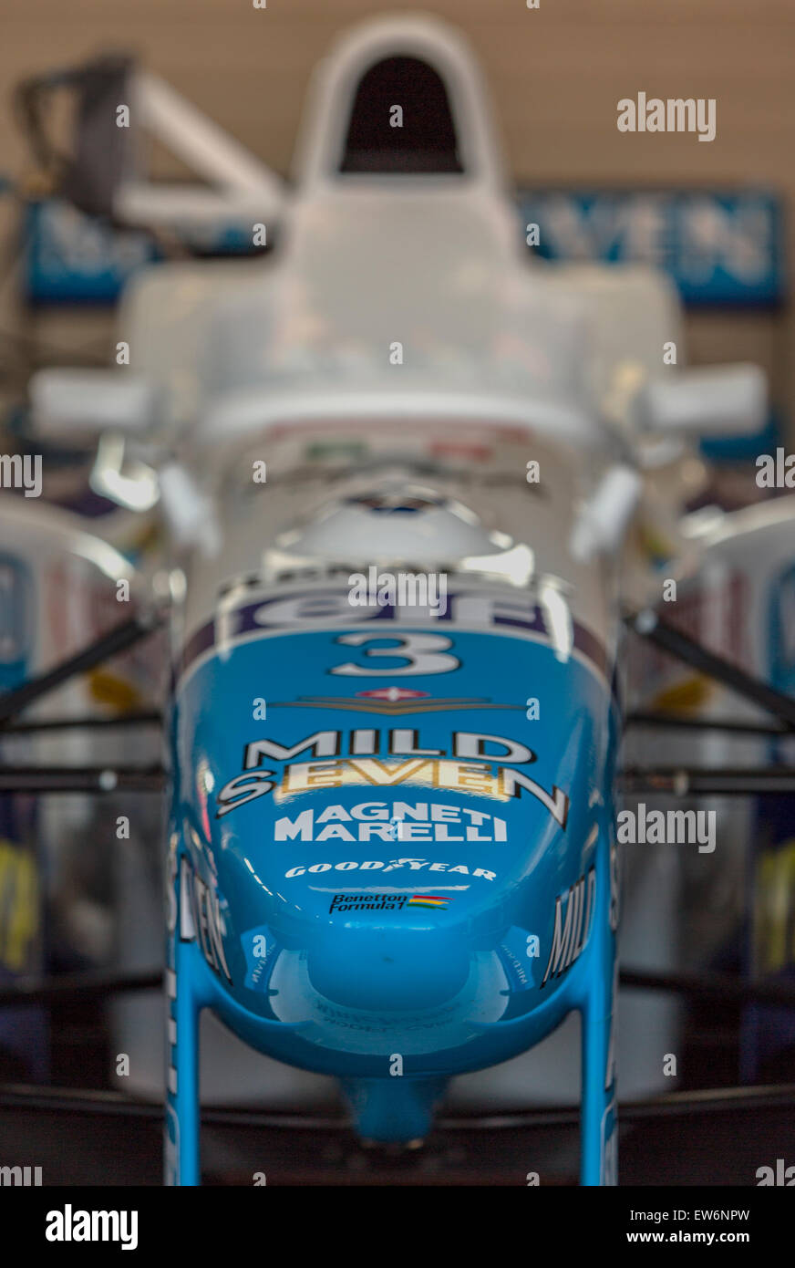 A Benetton B196, as driven to third in the 1996 F1 constructors world championship by Jean Aleasi and gerhard Berger. - Stock Image