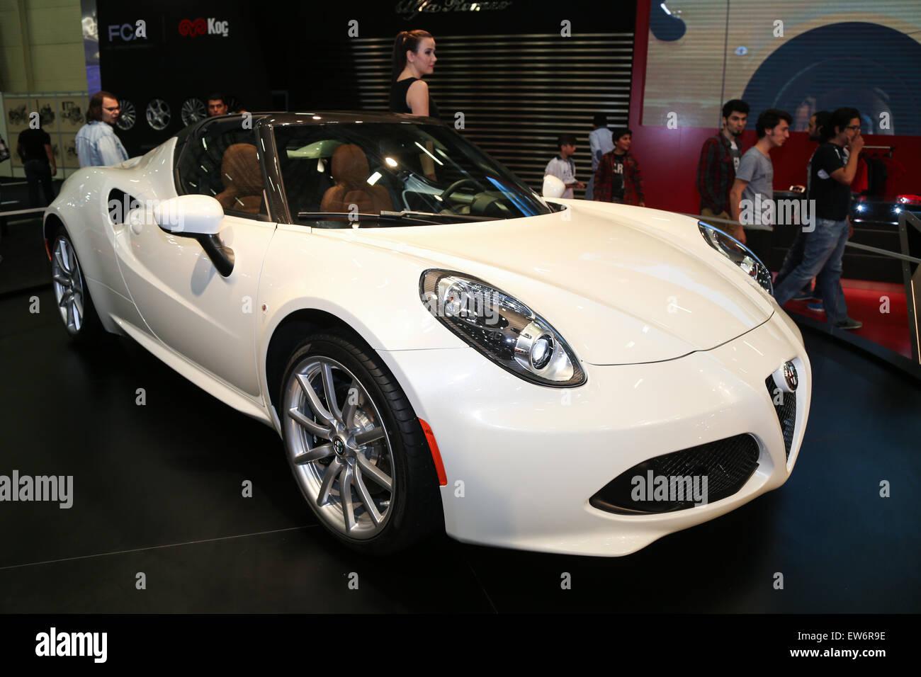 Alfa Romeo 4c Spider Istanbul Autoshow 2015 Stock Photo 84357882