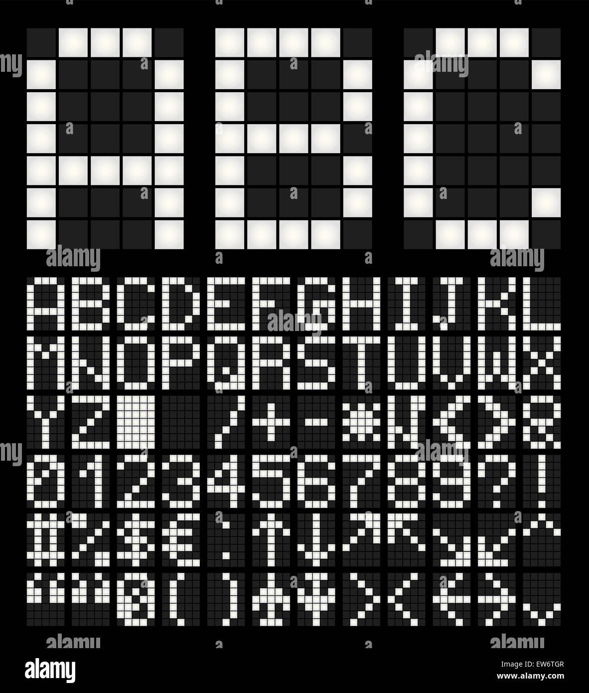8 bit font - Stock Image