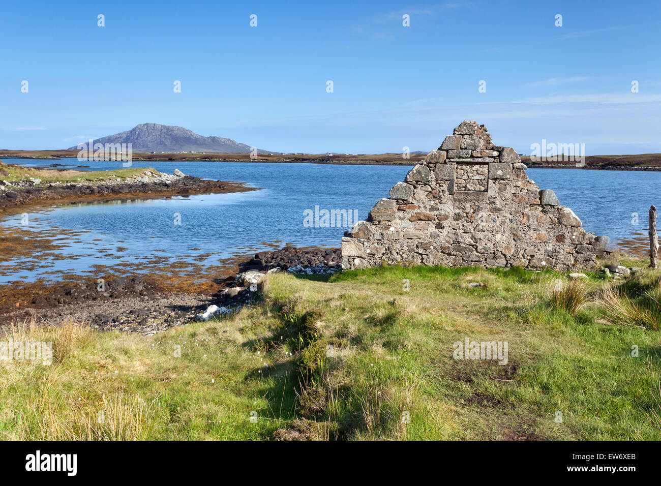 Loch Langass, Isle of North Uist, Outer Hebrides, Scotland - Stock Image