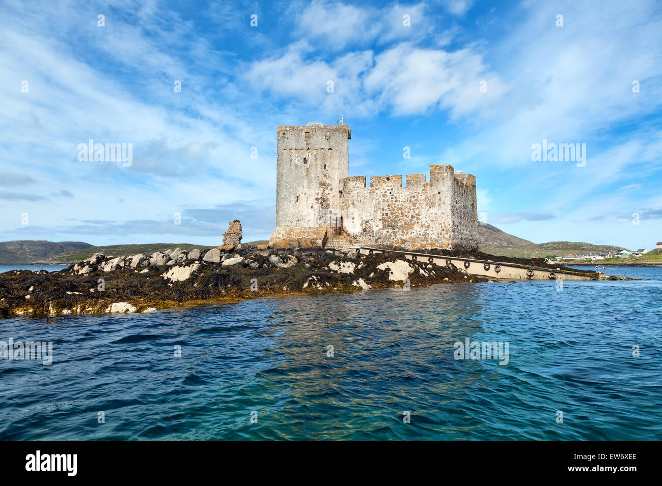 Kisimul Castle, isle of Barra, Outer Hebrides, Scotland - Stock Image