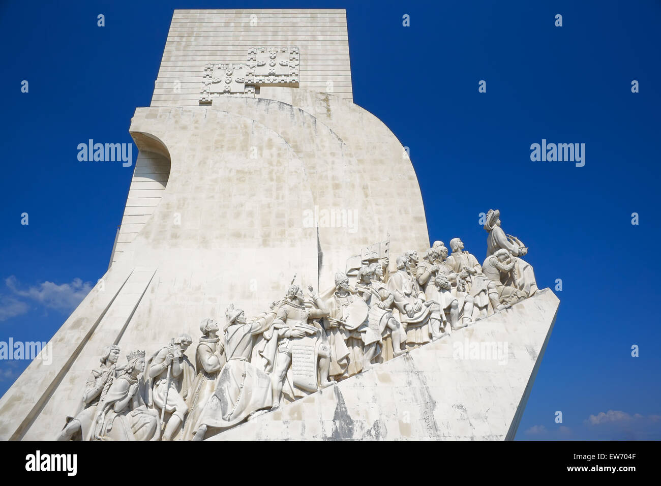 Monument of the Discoveries, Belem, Lisbon, Portugal, Europe Stock Photo