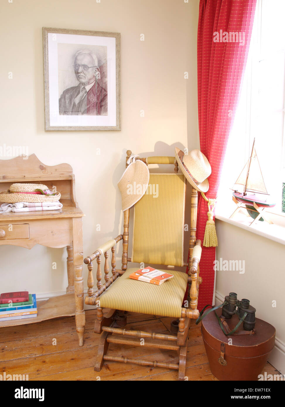 Astonishing An Edwardian Rocking Chair In The Corner Of A Traditional Download Free Architecture Designs Rallybritishbridgeorg