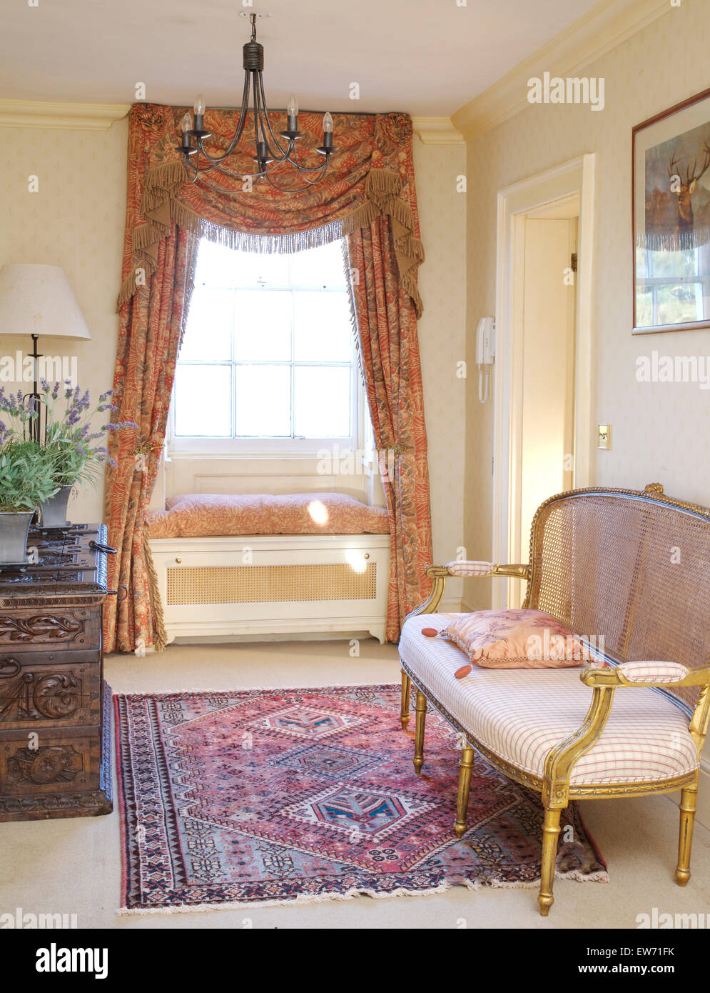 Wondrous French Style Gilt Sofa On Landing With Oriental Rug And Theyellowbook Wood Chair Design Ideas Theyellowbookinfo