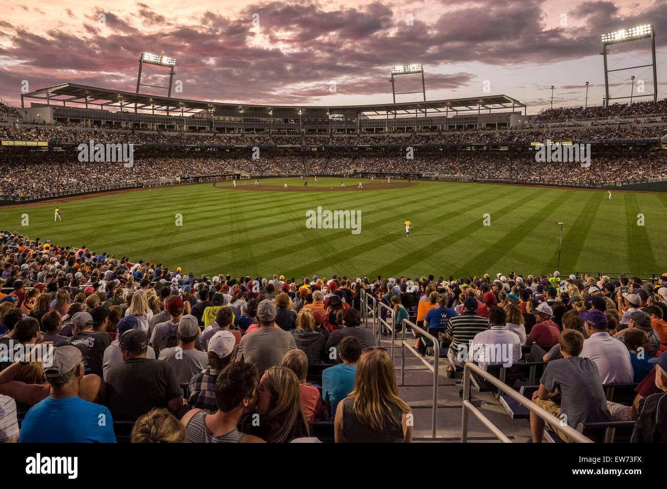 quality design 02d73 39b08 June 18, 2015  LSU in the field as sun sets during game 10 of